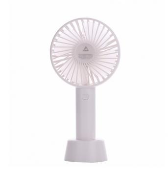 Вентилятор USB ручний акумуляторний з підставкою міні-вентилятор портативний Portable Fan S02 White