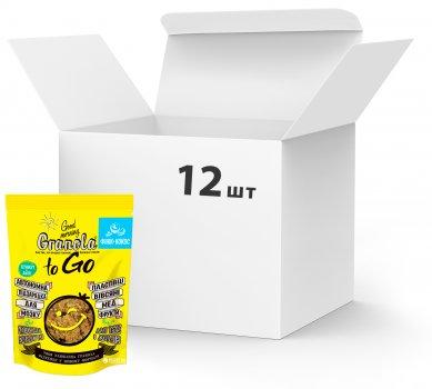 Упаковка сухих завтраков Good morning Granola to Go Финик + Кокос 140 г х 12 шт (24820192180119)