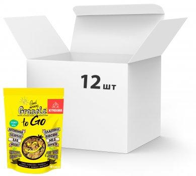 Упаковка сухих завтраков Good morning Granola to Go c клюквой 140 г х 12 шт (24820192180102)