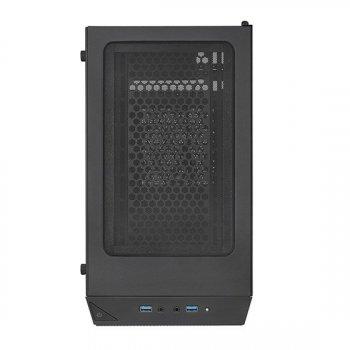 Корпус SilverStone PRECISION PS15B-G, MiniT, USB3.0Type-A*2, 1*120 мм,скло(бік.пане.),безБП,чорний