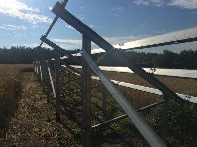 Кріплення для сонячних батарей для землі (оцинковка) - комплект для 1 панелі
