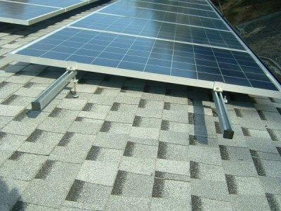 Кріплення для сонячних батарей для даху (оцинковка) - комплект ля панелі 1