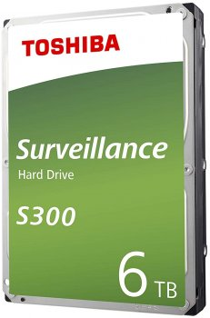 "Жорсткий диск Toshiba Surveillance Hard Drive S300 6TB 7200rpm 128MB HDWT360UZSVA 3.5"" SATA III"