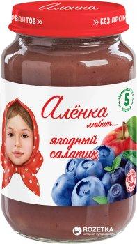 Упаковка пюре Аленка Любит Ягодный салатик 170 г х 6 шт (4813163002547)