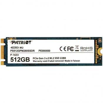 Накопичувач SSD M. 2 512GB Patriot Scorch (PS512GPM280SSDR)