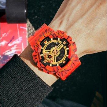 Часы мужские Sanda Red с ремешком из каучука + секундомер и будильник Красный