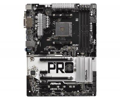 Материнська плата ASRock AB350 Pro4 Socket AM4