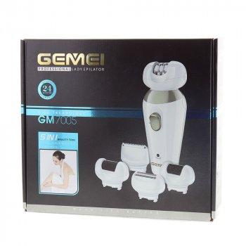 Епілятор пемза Gemei GM 7005 5в1 (do-004642)