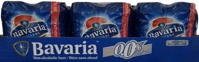 Упаковка пива Bavaria світле фільтроване 0.0% 0.33 л x 24 шт. (8714800035347)