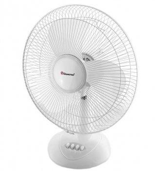 Настільний вентилятор Domotec MS-1626 Кут нахилу Автоповорот 3 швидкості 40 Вт Білий (HSD003)