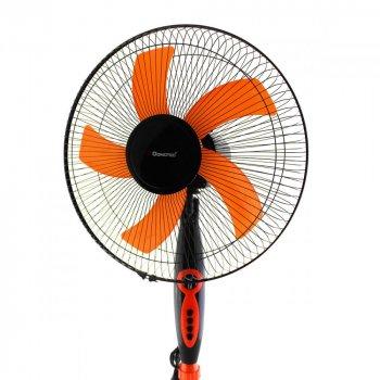 Напольный вентилятор с таймером Domotec MS-1620 Угол наклона Автоповорот 3 скорости 40 Вт Оранжевый (HSD005)