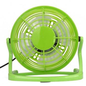 Настільний USB вентилятор Mini Fan Airflow CD-816 вентилятор для ноутбука 360° обертання портативний Зелений