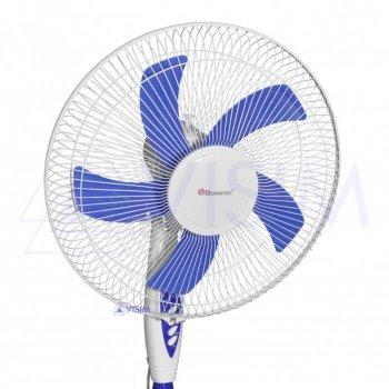 Підлоговий вентилятор Domotec MS-1621 c пультом 3 швидкості 40 Вт Білий
