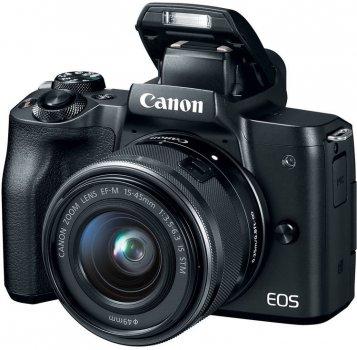 Недзеркального зі змінними об'єктивами Canon Eos M50 kit (15-45mm) Black Офіційна гарантія чорний
