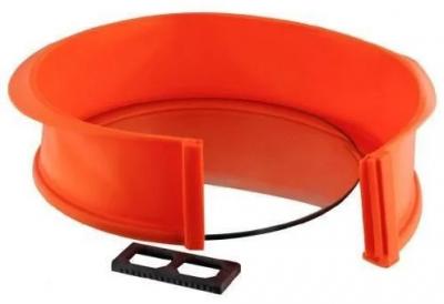 Форма для випічки кругла силіконова Tiross TS-368 26 см Orange
