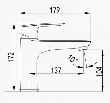 Змішувач для раковини IMPRESE Loket 05230