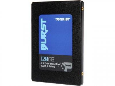 """Твердотільний накопичувач SSD Patriot 120GB BURST 2.5"""" SATA TLC (PBU120GS25SSDR)"""