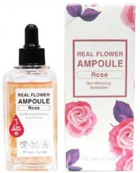 Осветляющая ампульная сыворотка с розой May Island Real Flower Ampoule Rose 100 мл (8809515400488)