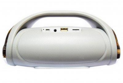 Портативна бездротова bluetooth стерео колонка T&G Mini Boombox Сіра (Boombox mini Silver)