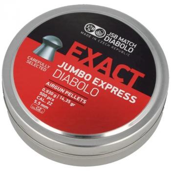 Пули пневм JSB Exact Jumbo Express 5,52 мм , 0,930 г, 500 шт/уп