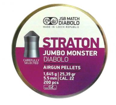 Кулі пневм JSB Monster Straton 5,51 мм , 1,645 г, 200 шт/уп