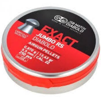 Пули пневм JSB Exact Jumbo RS 5,52 мм , 0,87 г, 250 шт/уп