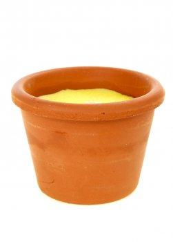 Свічка ароматизована в горщику LIDL 6*8см коричневий-жовтий L-130928