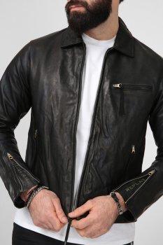 Мужская черная кожаная куртка Replay M8118 .000.83708K