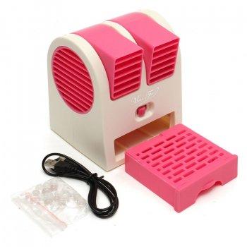 Міні-кондиціонер вентилятор Mini Fan UKC HB-168 ARCTIC AIR COOLER Рожевий