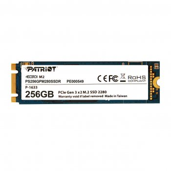 Накопичувач SSD 256GB Patriot Scorch M. 2 2280 PCIe 3.0 x2 3D TLC (PS256GPM280SSDR)