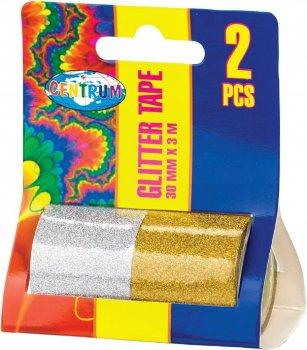 Набір декоративної клейкої стрічки Centrum Glitter 2 шт. 30 мм х 3 м (80289) (4030969802892)