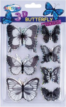 Наклейки Centrum Butterfly 30 х 40 мм, 20 х 30 мм Асорті (80759)