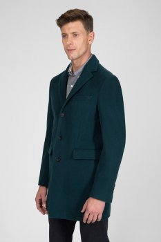 Мужское зеленое пальто THE WOOL COAT Gant 7050010
