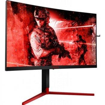 """Монітор AOC 27"""" AG273QCG Black/Red Curved; 2560x1440 (165 Гц), 400кд/м2, 1 мс, HDMI, Displayport, 4хUSB3.0 динаміки 2х2 Вт"""