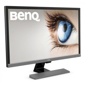 """Монітор BenQ 27.9"""" EL2870U (9H.LGTLB.QSE) Metallic Grey; 3840x2160, 1 мс, 250 кд/м2, 2xHDMI, DisplayPort, динаміки 2х2 Вт"""