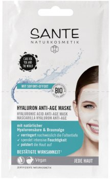 Био-маска для лица Sante с гиалуроновой кислотой Anti-Age 2 x 4 мл (4025089083849)