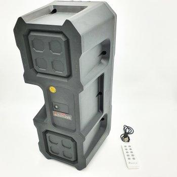 """Портативна колонка 2х4"""" акумуляторна бездротова Bluetooth акустична система з пультом USB FM 2х5 Вт KTS-1048"""