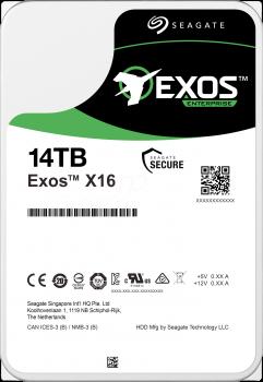 "Жорсткий диск Seagate Exos X16 HDD 14TB 7200rpm 256MB ST14000NM002G 3.5"" SAS"