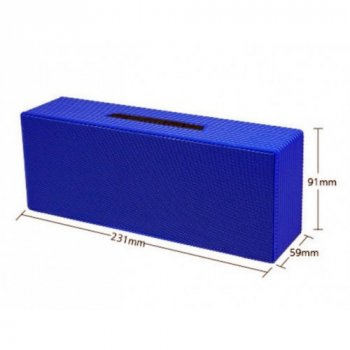 Портативна bluetooth колонка AT-7708 Blue microSD, USB, AUX Atlanfa