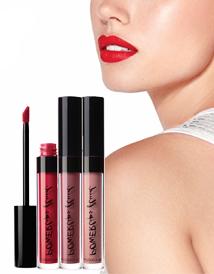 Суперстойкая жидкая губная помада Nu Colour Powerlips Fluid Metallic Promotion «Бизнес-леди»