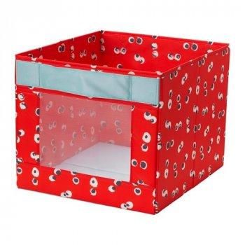 Коробка IKEA ANGELÄGEN 38x42x33 см красная 604.179.44