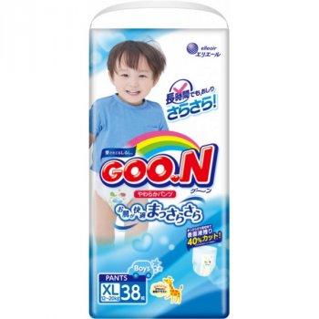 Трусики-підгузки GOO.N для хлопчиків 12-20 кг (розмір Big (XL), 114 шт)
