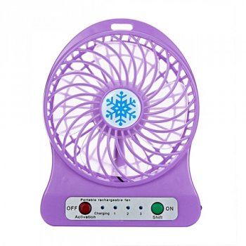 Міні-вентилятор Portable Fan Mini Фіолетовий
