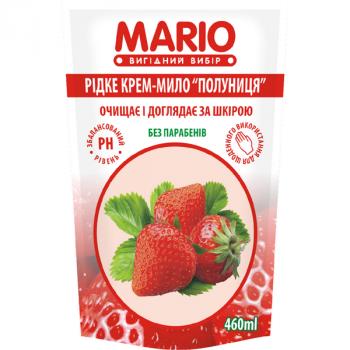 Жидкое крем-мыло MARIO 460мл (дой-пак) Клубника