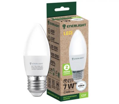 Світлодіодна лампа ENERLIGHT C37 7W 4100K E27