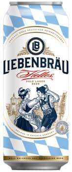 Упаковка пива Liebenbrau Helles светлое фильтрованное 5.1% 0.5 л х 24 шт (4071600070140)