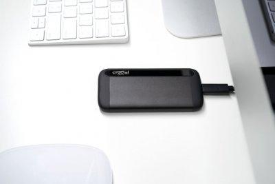 Crucial X8 Portable SSD 1TB USB 3.2 Type-C 3D NAND QLC (CT1000X8SSD9) External