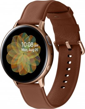 Смарт-годинник Samsung Galaxy Watch Active 2 44 mm Stainless steel Gold (SM-R820NSDASEK)