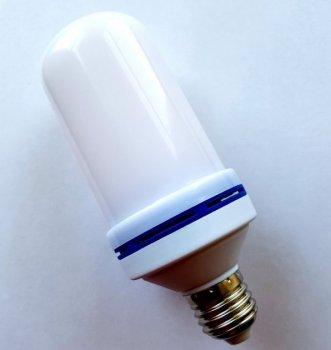 Лампа світлодіодна з ефектом полум'я вогню динамічно рухається полум'я 3 режими E27 LED Flame Bulb А+