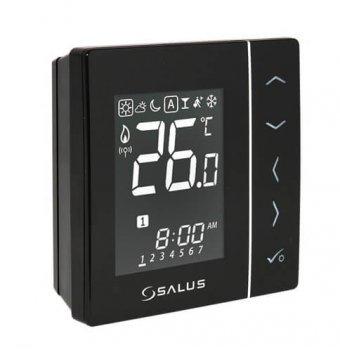Беспроводной, цифровой регулятор температуры Salus 4в1, черный, 230V (VS10BRF)